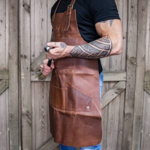 Multi Pocket Leather Apron