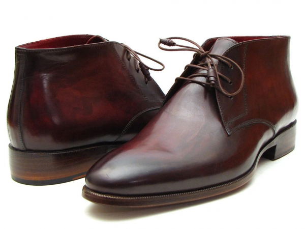 Brown & Bordeaux Chukka Boots