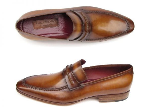 Antique brown loafers