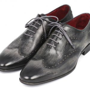 Grey and Black Handpainted Oxford