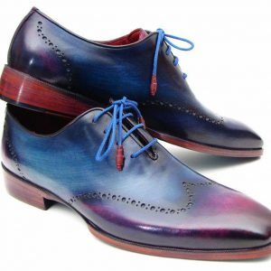 Blue and purple Oxfords