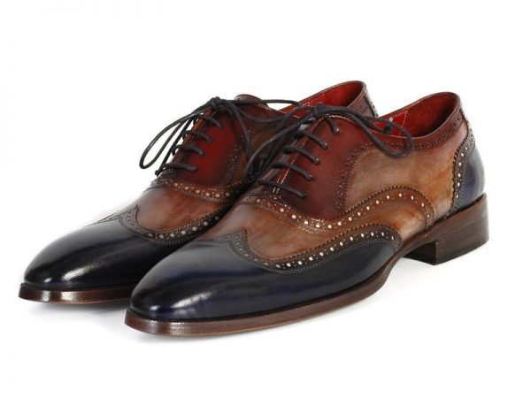 Tri tone Oxford wingtips