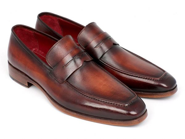 Bordeaux and Brown Penny Loafers