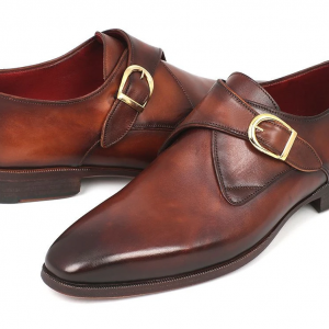 Brown and Camel Monkstrap Dress Shoes