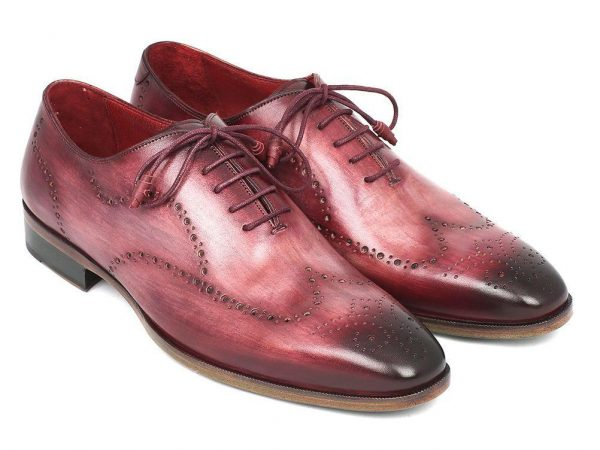 Hand painted Oxfords Burgundy