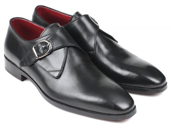 Black monkstrap shoes